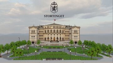 The Norwegian Parliament (Stortinget), Oslo / Norway Minecraft Map & Project