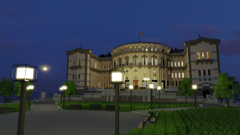 Front view during the night
