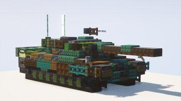 Leopard 2 A4 Main Battle Tank - 1.5:1 scale Minecraft Map & Project
