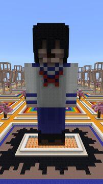 Kasane Yuchi (School uniform) - Kasane - Player Statue Minecraft Map & Project