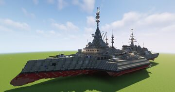 Beast Class Destroyer (Fictional) (Schematic) Minecraft Map & Project