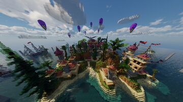 Map 6 - GREEK THEMED LOBBY 🇬🇷 Minecraft Map & Project
