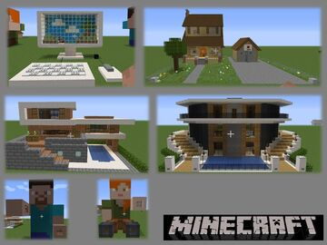 Coleccion de casas (Houses collection) by AdrielVR Minecraft Map & Project