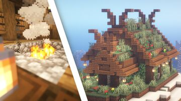 Minecraft | Viking House Idea | How to Build a Viking House Tutorial Minecraft Map & Project