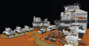 Martian military vehicles Minecraft Map & Project
