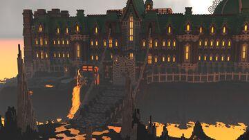 MASSIVE Lava Mansion Minecraft Map & Project