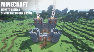 Minecraft One Chunk Castle Tutorial Minecraft Map & Project