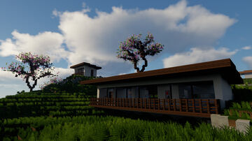 Blossom - Modern Japanese House (with cinematic) Minecraft Map & Project