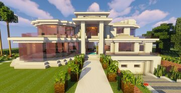 Top 5 Modern House #1 (Map + Schematic) Minecraft Map & Project