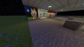 Convenient store with gas stations Minecraft Map & Project