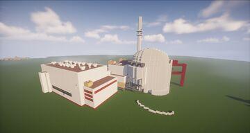 German Nuclear Power Plant Brokdorf [Small-Scale] | Kernkraftwerk Brokdorf 3. DWR-Generation (Vor-Konvoi) Minecraft Map & Project