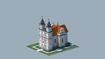 Small church inspired by the Basilica of Maria Dreieichen in Mold Minecraft Map & Project