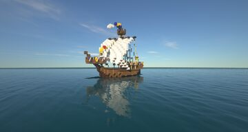 """Medieval Ship Cog """"Paliroika"""" Minecraft Map & Project"""