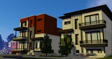 Realistic 1:5:1 Quebec Modern House Minecraft Map & Project