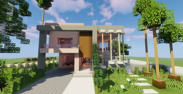 Top 5 Modern House #3 (Map + Schematic) Minecraft Map & Project
