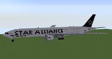 EVA Air Boeing 777-35E(ER) Star Alliance livery (test repaint livery) Minecraft Map & Project