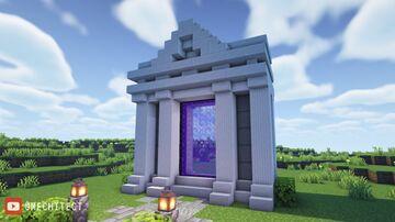 Roman-Style Nether Portal Minecraft Map & Project