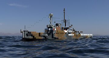 HNLMS Abraham Crijnssen, Jan van Amstel class AKA Island ship Minecraft Map & Project