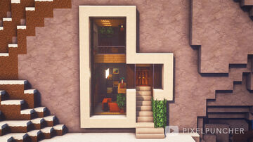 Simple Modern Mountain House Minecraft Map & Project