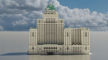 Fairmont Royal York Hotel (1:1 SCALE) in downtown Toronto, Ontario Minecraft Map & Project