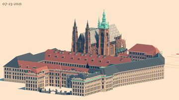 Prague castle with St. Vitus cathedral | Krysot | stage 35% (with download) Minecraft Map & Project