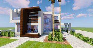 Top 5 Modern House #4 (Map + Schematic) Minecraft Map & Project