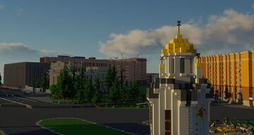 Novosibirsk 1 to 1 scale - Новосибирск в масштабе 1 к 1 (TeamCIS | СНГ - Build the Earth) Minecraft Map & Project