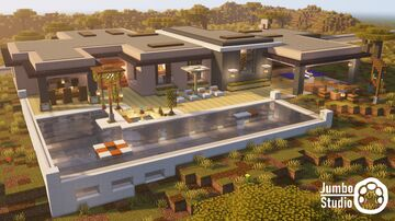 A Modern House - 09 Minecraft Map & Project