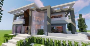 Top 5 Modern House #5 (Map + Schematic) Minecraft Map & Project