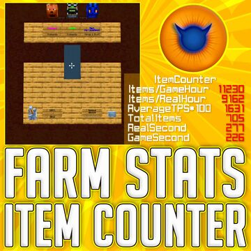 ITEM COUNTER FARM STATS Tool incl. TPS farm lag measuring Minecraft Command Blocks No Mod No Datapack 1-click stacked command | Most recent release works for 1.17 / 21w38 | available for MC 1.9-1.17 Minecraft Map & Project