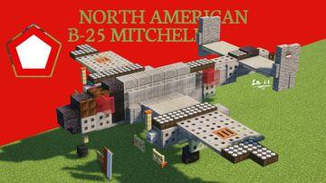 North American B-25 Mitchell Minecraft Map & Project