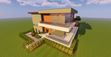 Modern House #128 (Map + Schematic) Minecraft Map & Project