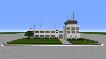 Flight Control Tower Minecraft Map & Project