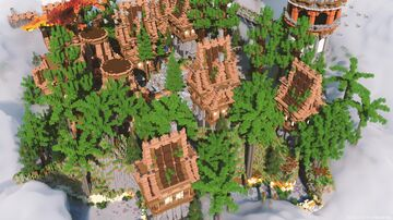 Medium spawn Village Minecraft Map & Project