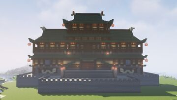 Japanese Fortress (LITEMATICA, 1.17.1) Minecraft Map & Project