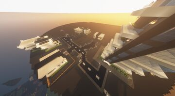 Modern city with a small skyscraper Minecraft Map & Project