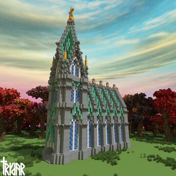 Medieval Church +Tutorial Minecraft Map & Project