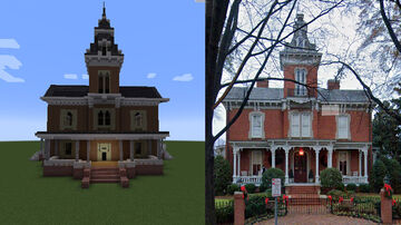 Victorian Italianate / Second Empire house. Minecraft Map & Project
