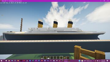 RMS James Minecraft Map & Project