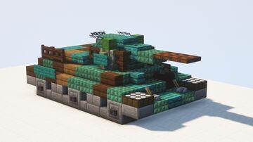 T-34 medium tank, model 1942 - 1.5:1 scale Minecraft Map & Project