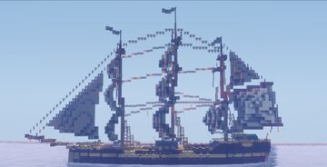 Anno 1800 Frigate (Fifth Rate) Minecraft Map & Project