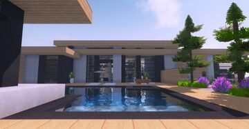 Modern Wood Villa Minecraft Map & Project