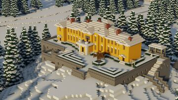 Old Russian Estate on a Hill - near Saint Petersburg, 1893 Minecraft Map & Project