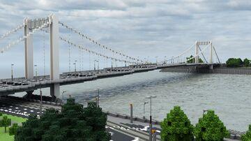 BTE Project - Elisabeth Bridge, Budapest (1:1) Minecraft Map & Project