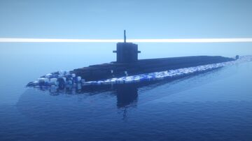 1.5:1 Scale Ohio Class Nuclear Ballistic Missile Submarine Minecraft Map & Project