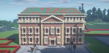 Townhall in Neoclassical style   Hôtel de ville en style néoclassique Minecraft Map & Project