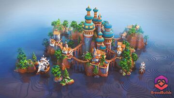 Blue Palace ❯ Lobby ❯ 500x500 Minecraft Map & Project