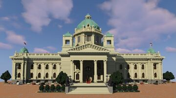 Parliament building of the Republic of Serbia / National Assembly of the Republic of Serbia - Skupština Republike Srbije /Скупштина Републике Србије Minecraft Map & Project