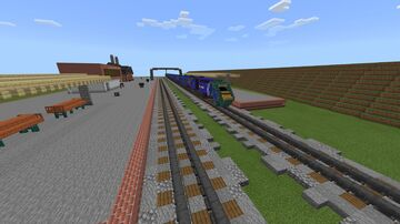 British railway station with intercity 125 Minecraft Map & Project
