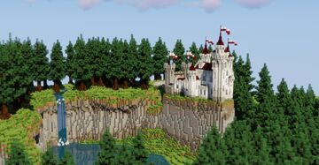 small white castle in big spruce forest Minecraft Map & Project